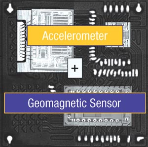 LSM303DLH 3x accelerometer and 3x magnetometer in compact LGA package