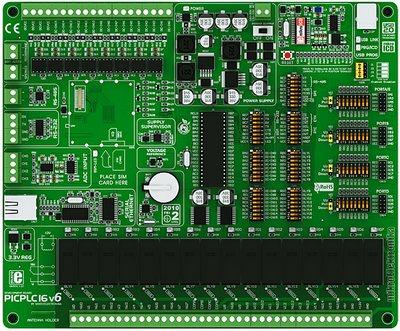 Отладочная плата mikroElektronika PICPLC16 V6 (ME-PICPLC16 V6)