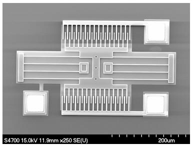 Polysilicon resonator structure fabricated using a surface micromachining process