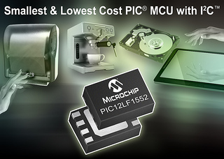 Microchip Adds Smallest and Lowest-Cost PIC Microcontroller With I2C to its Portfolio