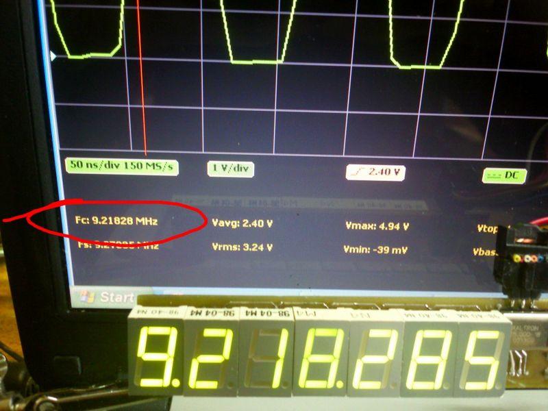 Оценка точности измерений частоты осциллографом и частотомером на AVR микроконтроллере