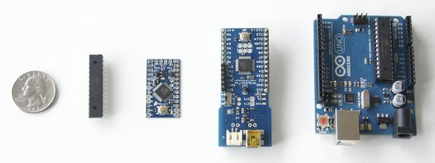 Представители аппаратной платформы Arduino имеют различные размеры и форм-фактор.