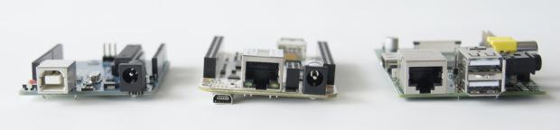 Arduino Uno, BeagleBone, RaspberryPi.