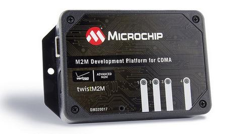 Microchip представила новую платформу разработки M2M (Machine-to-Machine) приложений для сетей CDMA (множественный доступ с кодовым разделением каналов) -  Machine-to-Machine (M2M) Development Platform for CDMA (DM320017).
