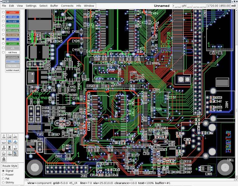 Вид экрана программы gEDA