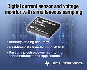 LMP92064: Industry's first digital current sensor and voltage monitor with simultaneous sampling