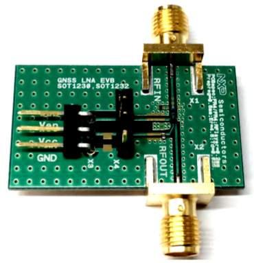 BGU8010 GNSS LNA evaluation board