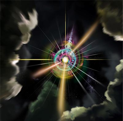 Искусственный магнитный монополь в воображении художника