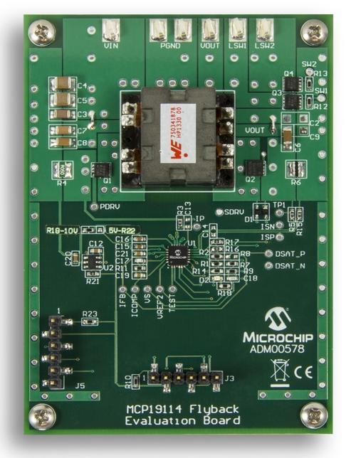 Microchip MCP19114 Flyback Standalone Evaluation Board
