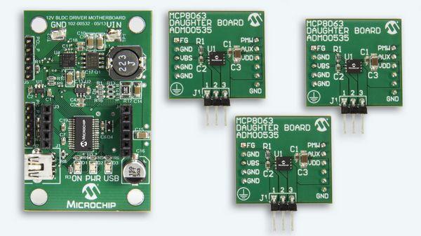 Microchip MCP8063 12V 3-Phase BLDC Sensorless Fan Controller Demonstration Kit (ADM00575)