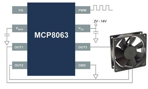 Драйвер MCP8063 может работать