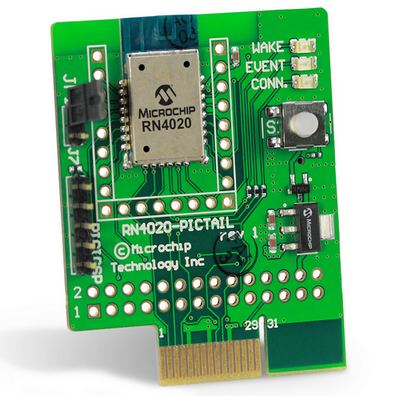 RN4020 Bluetooth Low Energy PICtail/PICtail Plus daughter board (part # RN-4020-PICtail)