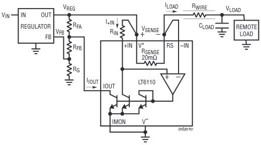 control the voltage of a remote load over any length copper wire