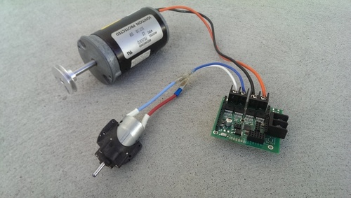 High amperage motor controller