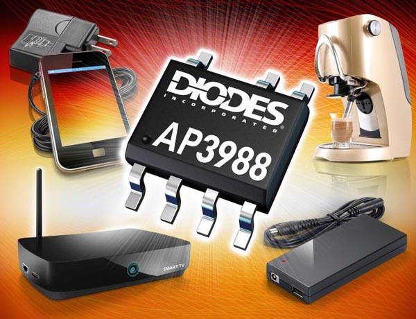 Primary-Side Switcher from Diodes Incorporated Cuts Power Supply Size and Cost While Improving Efficiency and Performance