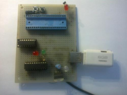 Электронный ключ на основе поломанной USB флешки и контроллера Atmel