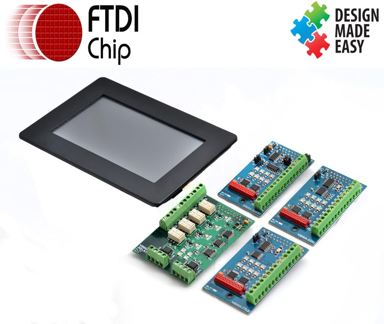 FTDI Chip Unveils Daughter Cards Supporting its Arduino-Compatible EVE Development Boards