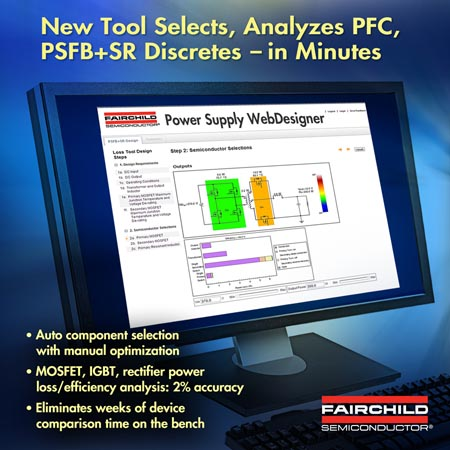 Power Supply WebDesigner Adds Power Train Discrete Device Power Loss and Efficiency Analysis Tools