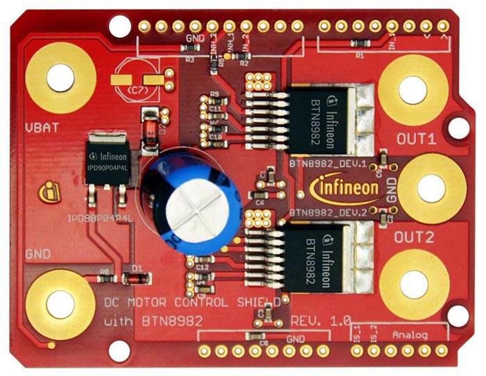 Infineon поддерживает проект Arduino двумя специализированными платами расширения
