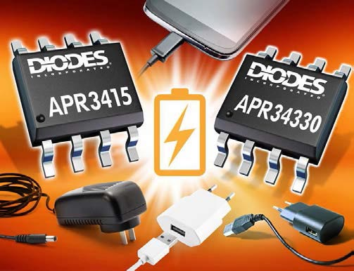 Synchronous Rectifiers from Diodes Incorporated Offer High Integration and Efficiency for Portable Electronics Chargers