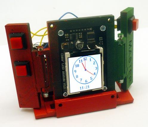 Будильник в технодизайне - настольные часы на основе Arduino