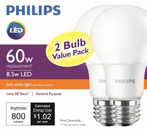 Philips Lighting delivers sub-five dollar 60W-equivalent LED lamp