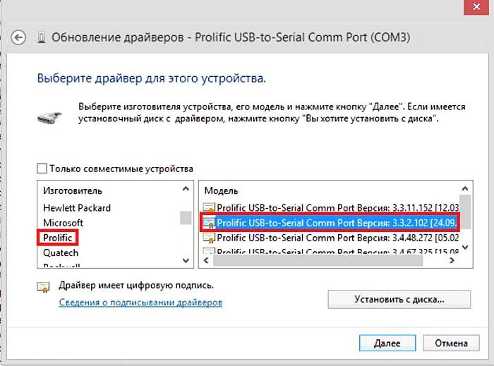 Как установить драйвер для elm327 usb windows 8