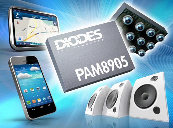 Diodes Incorporated's 1.9 W Class-D Audio Amplifier Delivers High SPL and Extends Battery Life