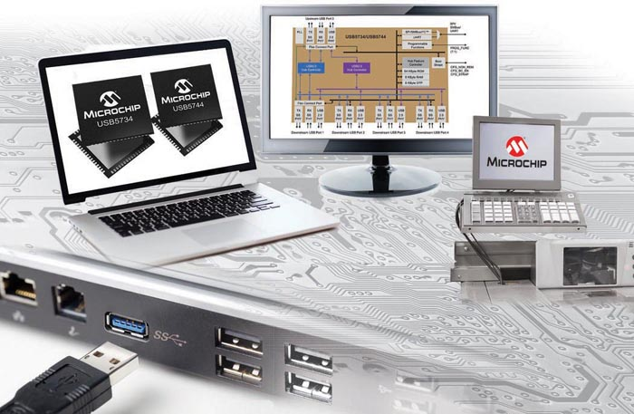 Microchip's New Smart Hub with FlexConnect Broadens Application Space of USB3.0 Hubs