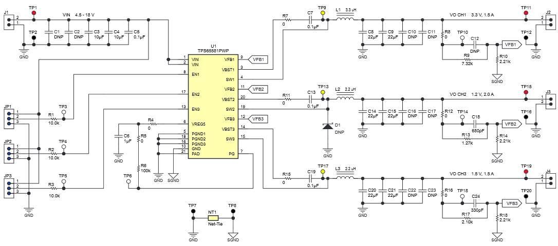 TPS65581EVM-575 Schematic Diagram