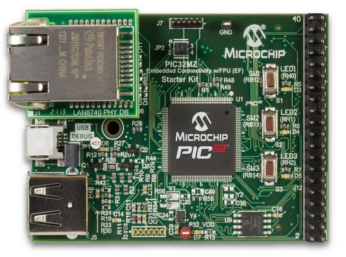 Microchip PIC32MZ Embedded Connectivity with FPU (EF) Starter Kit (DM320007)