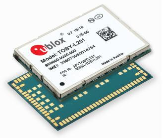 u-blox introduces TOBY-L201, a 150 Mbps 4G LTE and WCDMA module with multi-carrier support