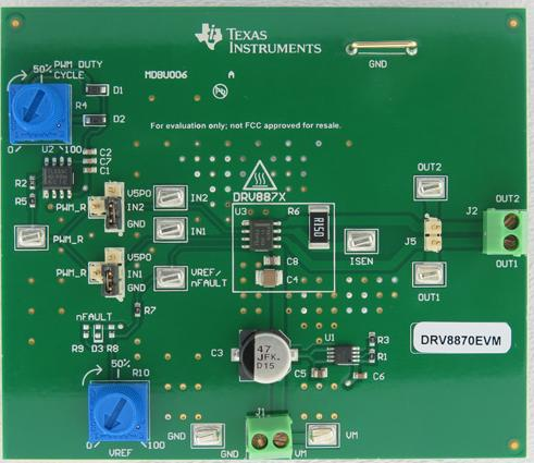 Evaluation Module Texas Instruments DRV8872EVM