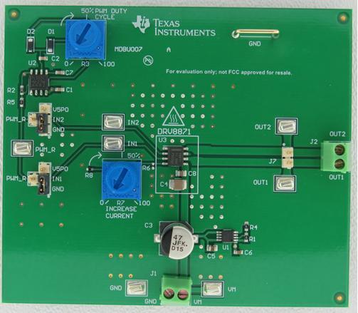 Evaluation Module Texas Instruments DRV8871EVM