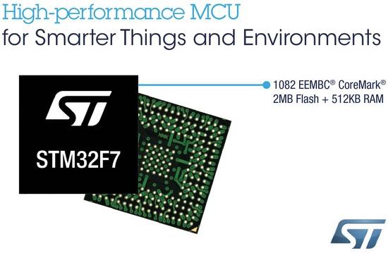 STMicroelectronics выпускает микроконтроллеры с ядром Cortex-M7: STM32F767, STM32F769
