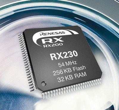 Renesas анонсировала группу микроконтроллеров RX230