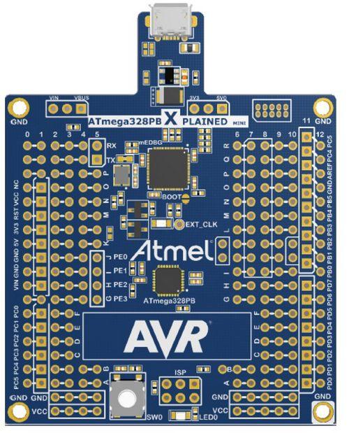 Evaluation Kit Atmel ATMEGA328PB-XMINI