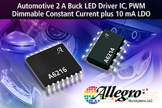 Allegro MicroSystems ���������� ������ � ������� ������� ����������� ��� ������������� ������ ��������� � ���������� ��������� ������� ���