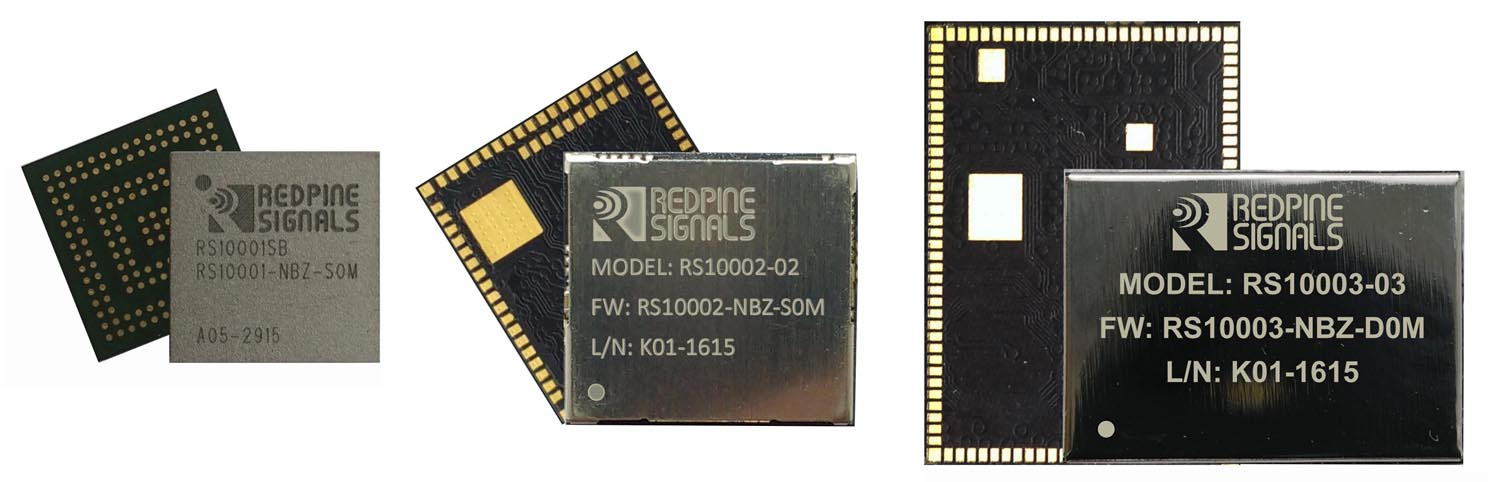 Redpine Signals - RS10001, RS10002, RS10003