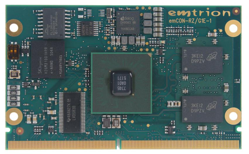Renesas and emtrion Introduce New emCON-RZ/G1E System-On-Module Board