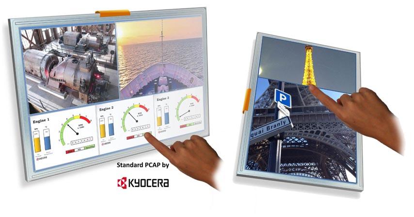 Kyocera анонсировала серию TFT-LCD с проекционно-емкостными сенсорными экранами для промышленных приложений