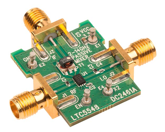 Demonstration circuit 2461A is optimized for evaluation of the LTC5548