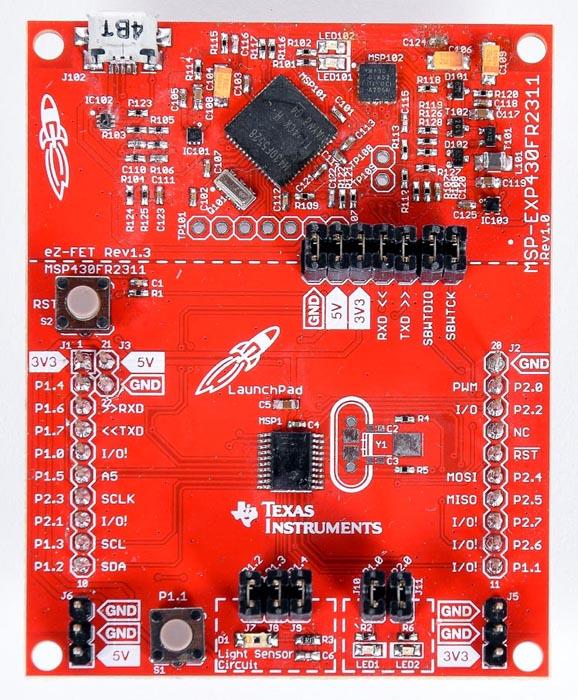 The MSP430FR2311 MCU LaunchPad development kit