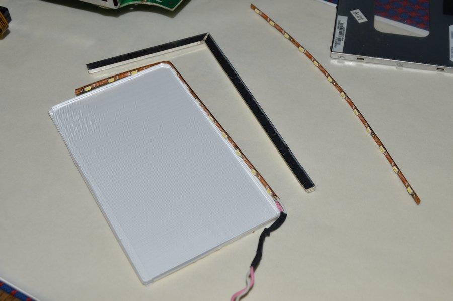 Mystery MMD-4503BS: Подготавливаем светодиодную ленту для подсветки дисплея