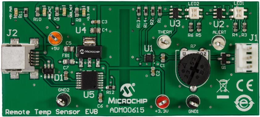 ADM00615 – MCP9902 Remote Temperature Sensor Evaluation Board