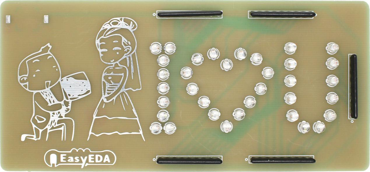 Design a romantic PCB using a free PCB design tool - EasyEDA