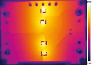 Thermograph of Passive Diode Bridge.