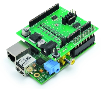 Expansion Shield for RaspberryPi compatible with Arduino