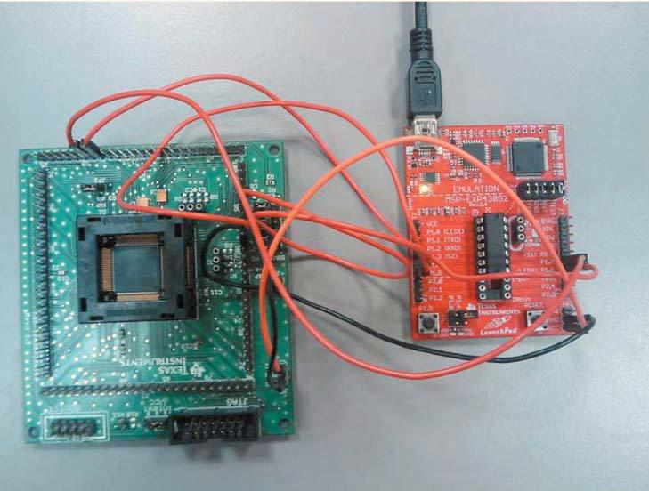 ��������� ���������� ���������� ��� MSP430 �� ������ LaunchPad, ������������� �������� UART