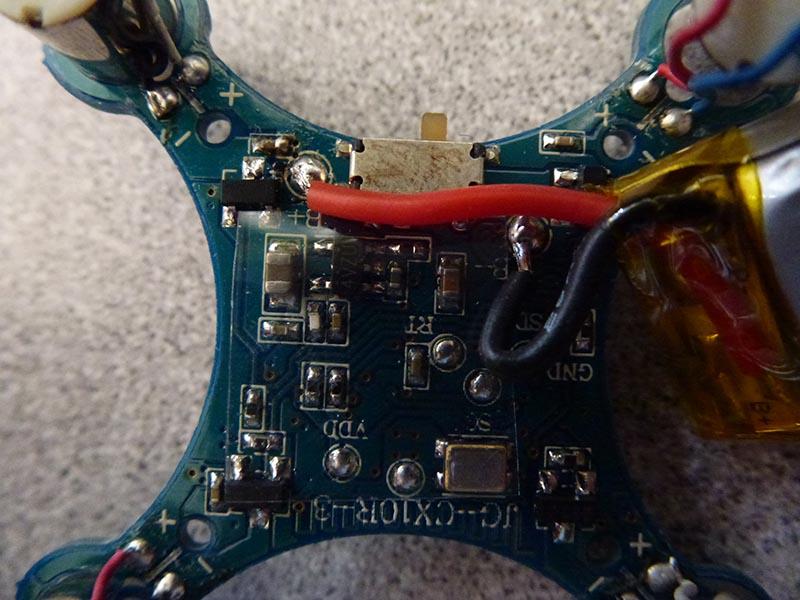 Cheerson CX-10 power switch